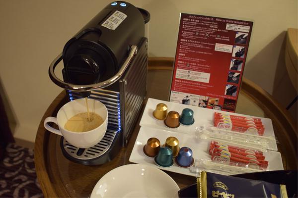 ホテル龍名館東京ネスプレッソマシン