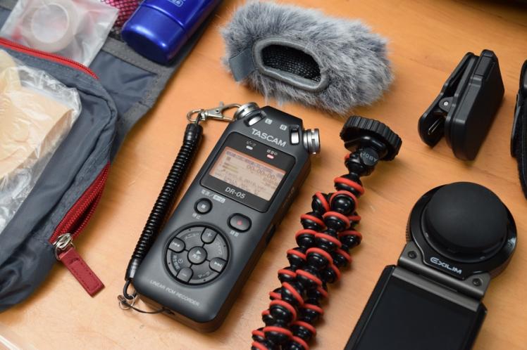 TASCAM DR-05 リニアPCMレコーダーとウインドジャマー