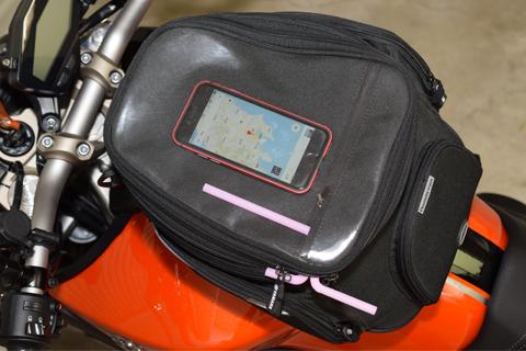 YAMAHAタックバッグに自作ベンチレーターセッティング