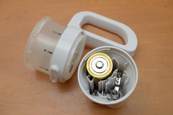 パナソニックLED懐中電灯BF-BM10電池収納ケース部