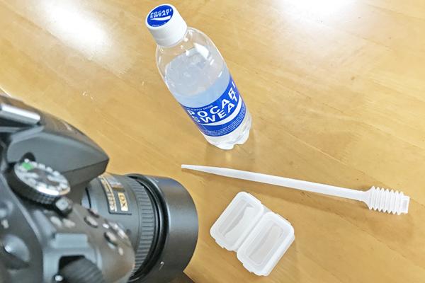 ポカリスエットによる吸液試験