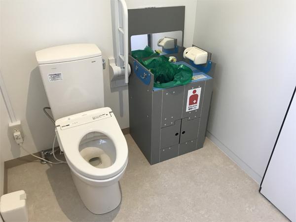 非常時オストメイト専用トイレ ベンリー・オスレット設置例