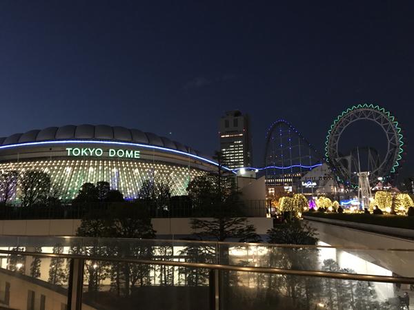 東京ドームと東京ドームシティー観覧車
