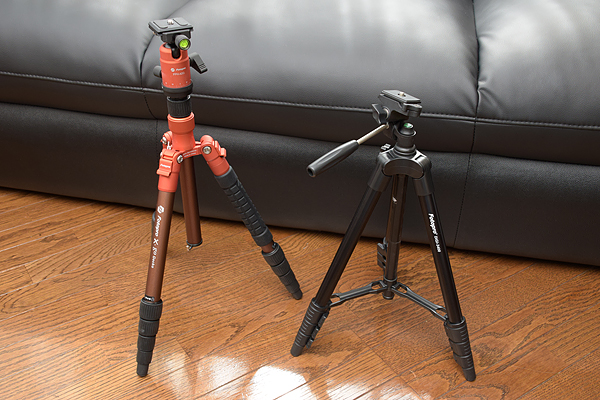 Fotopro DIGI-3400とX-go Gecko立てた状態