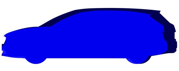 メルセデスベンツGLA220とトヨタマークXジオのサイドシルエットを重ねて比較