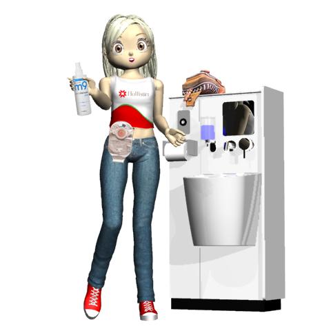 ホリスターm9とストーマ(人工肛門)モデルとオストメイトトイレのイラスト